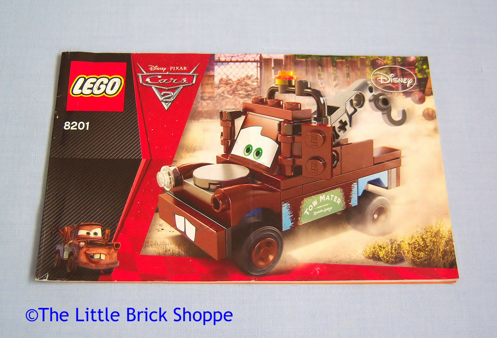 Lego Disney Cars 8201 Classic Tow Mater Instruction Book Only No Spy Jet Escape 8638 1 Of 2only Available