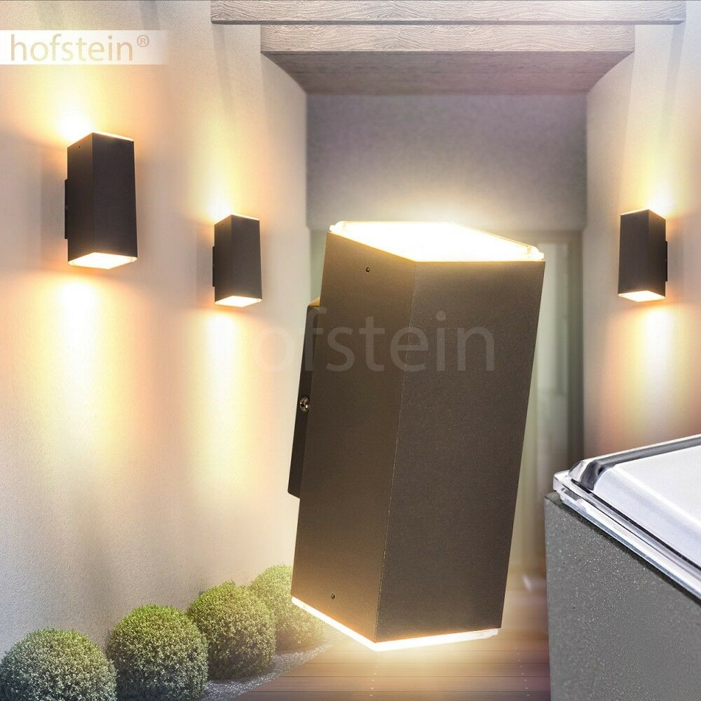 aussen wand leuchte led up down strahler veranda terrasse hof lampe beleuchtung eur 34 99. Black Bedroom Furniture Sets. Home Design Ideas