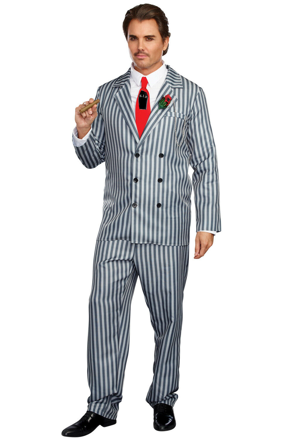 brand new addams family gomez pin stripe suit mr. fright adult