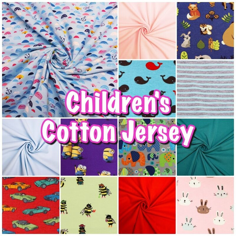 Colourful soft children 39 s cotton stretch jersey dress for Children s cotton dress fabric
