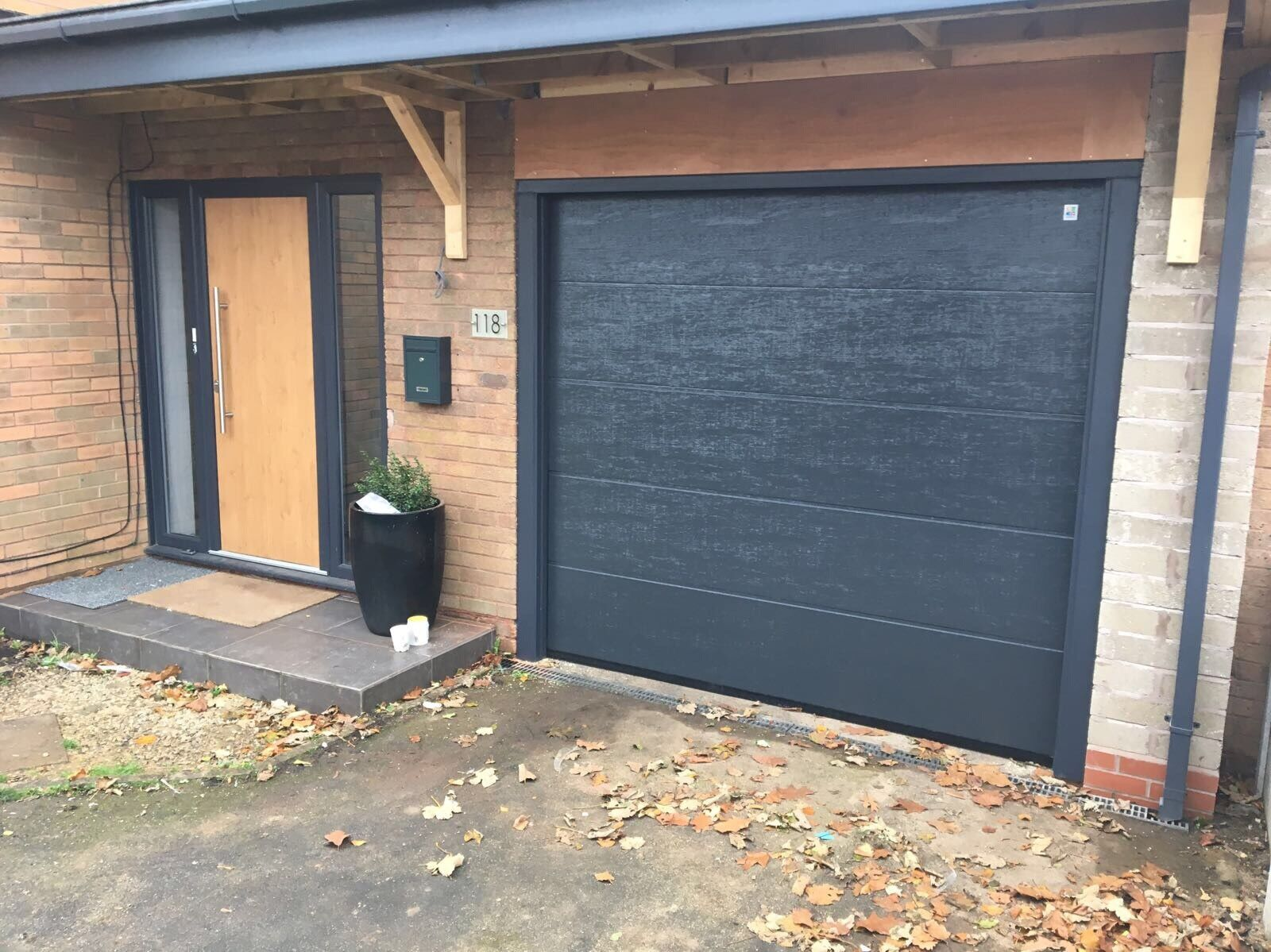 Anthracite Grey Ral 7016 Sectional Garage Door Free Colour Insulated