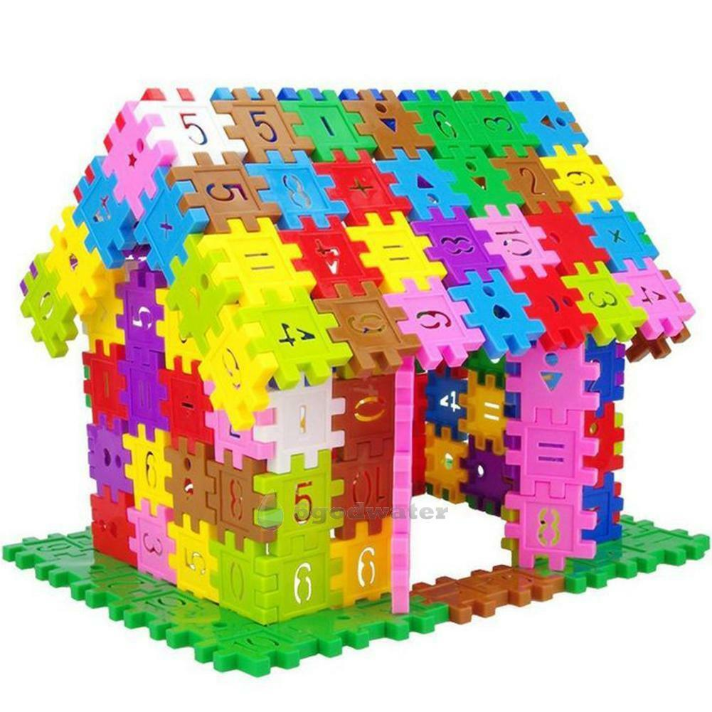 300pcs baby children plastic number building blocks puzzle. Black Bedroom Furniture Sets. Home Design Ideas