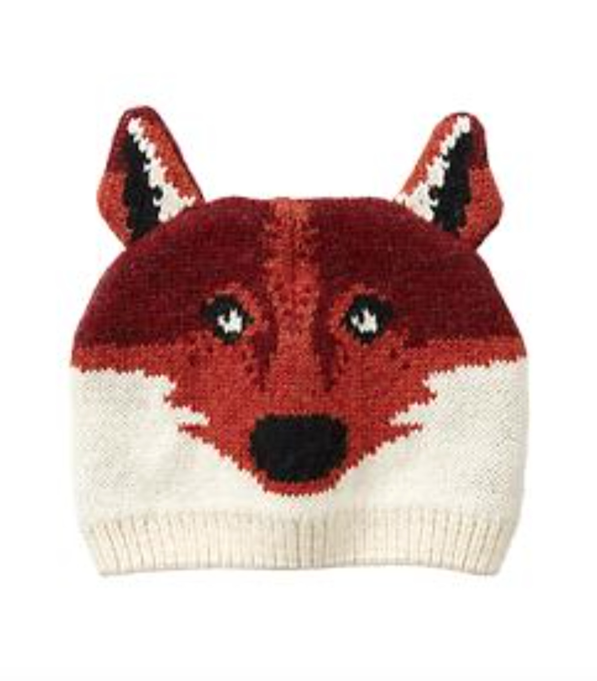 b623438d343 GAP Baby Boys Size 0-6 Months Red   Orange Fox   Animal Sweater Hat 1 of  1Only 1 available ...