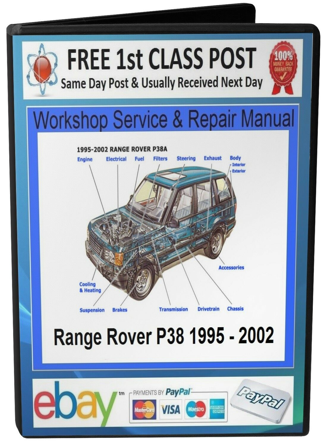 Range Rover P38 Service Repair Workshop Manual 1995 On Cd 349 P 38 Engine Diagrams 1 Of 2only 5 Available