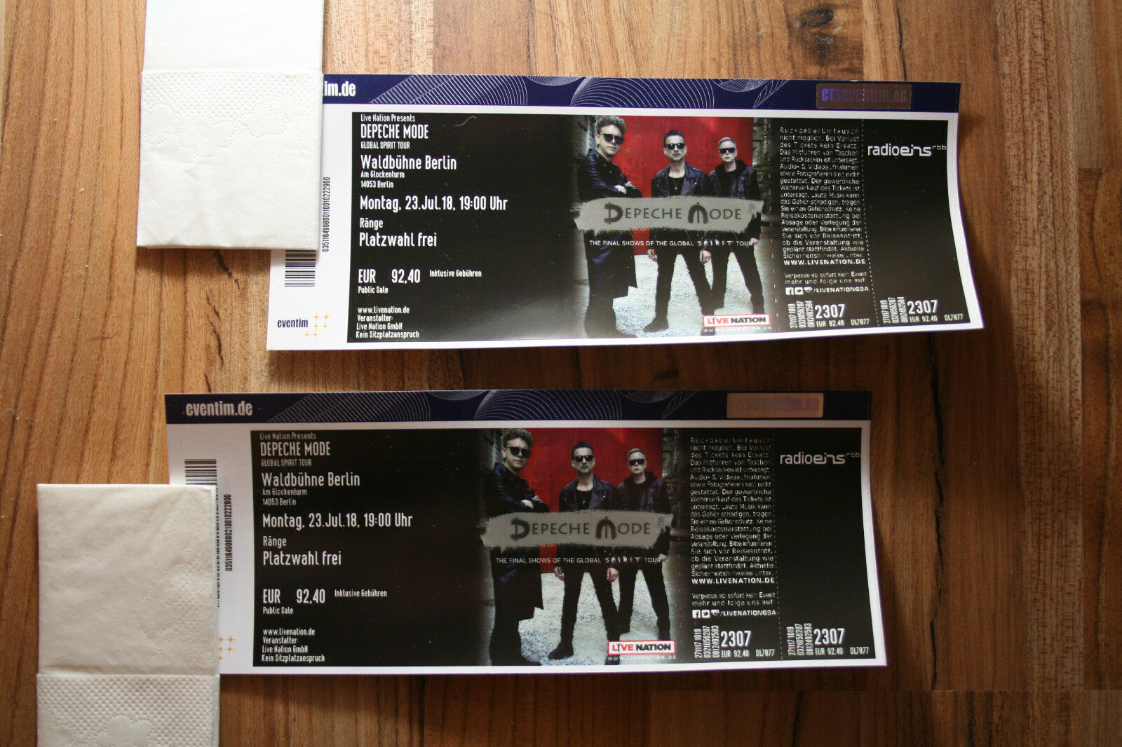 2 karten tickets f r depeche mode in berlin waldb hne eur 391 00 picclick de. Black Bedroom Furniture Sets. Home Design Ideas