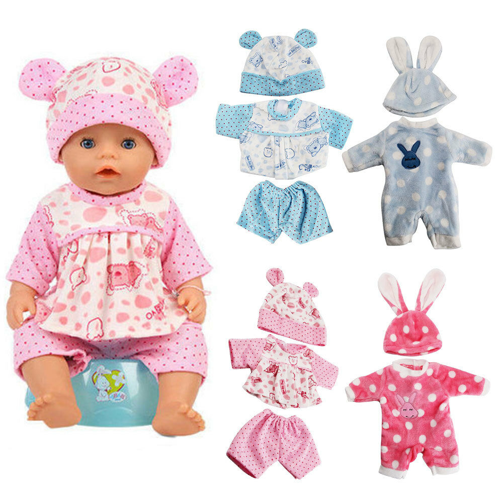 BABY DOLL Clothes Fit Zapf Doll Jumpsuit Suit Doll Pajamas