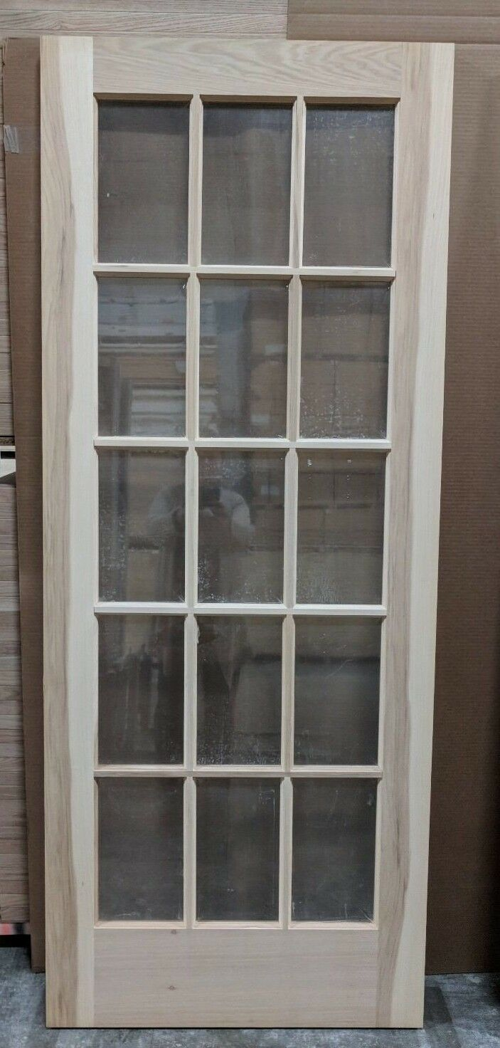 Hickory 15 Lite Glass Interior Door 32 X 80 X 1 38 Slab Or