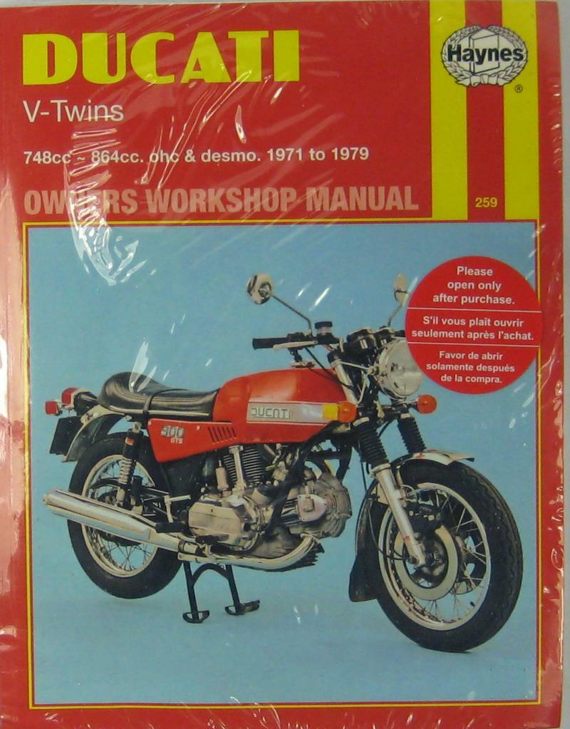 HAYNES WORKSHOP MANUAL for DUCATI V-TWINS, 1971 to 1979 1 of 1Only 1  available ...