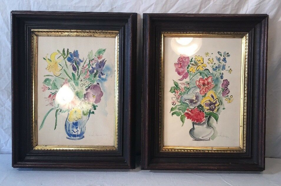 PAIR OF Antique Victorian Walnut Shadowbox Frames With Vintage ...