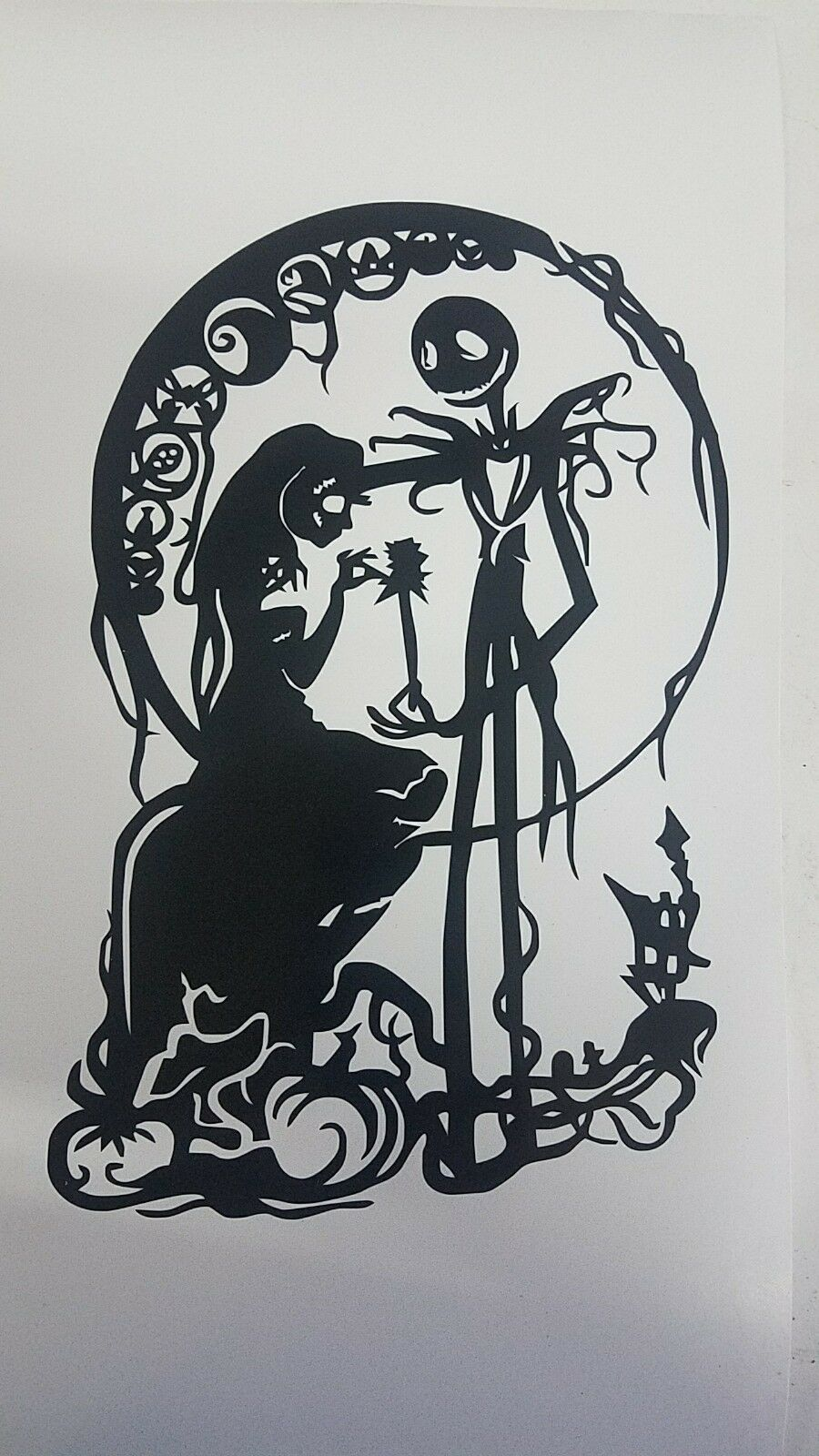 NIGHTMARE BEFORE CHRISTMAS Sticker Jack and Sally Vinyl Decal ...