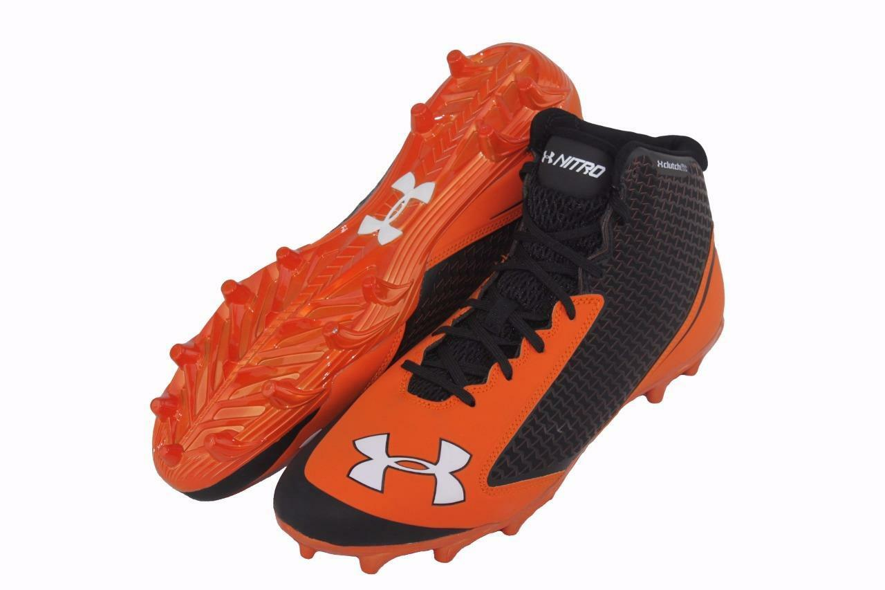 8a3f6ce88e10 New Under Armour UA Team Nitro Mid MC Football Cleats Men's Size 13  1256829-002 1 of 4Only 2 available ...
