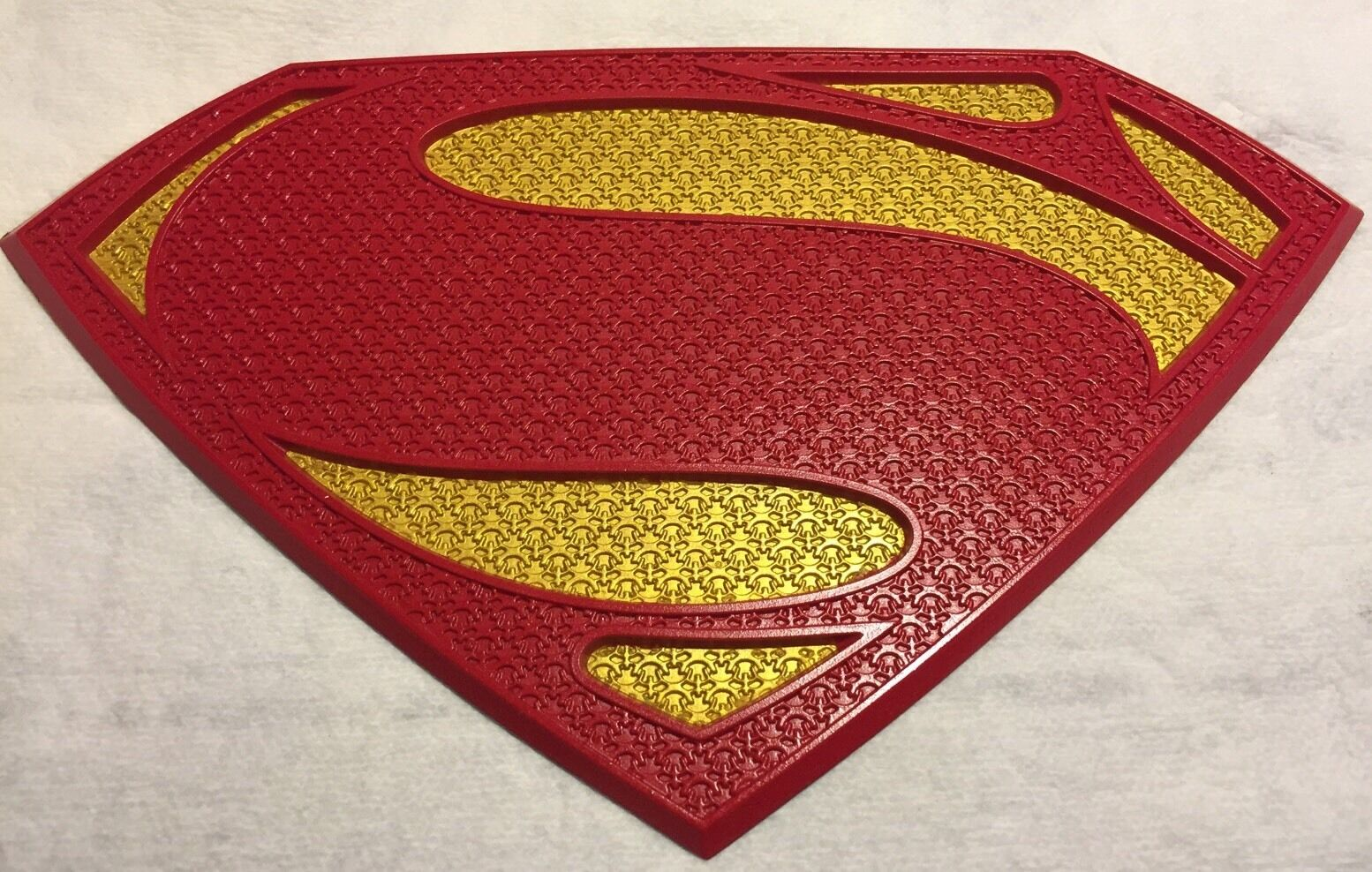 Man Of Steel Superman Chest Logo Emblem Symbol In Red And Gold