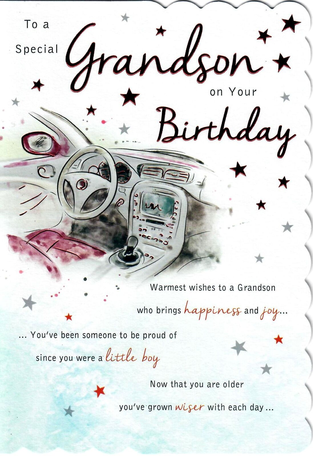 Stunning Modern Design To A Special Grandson On Your Birthday