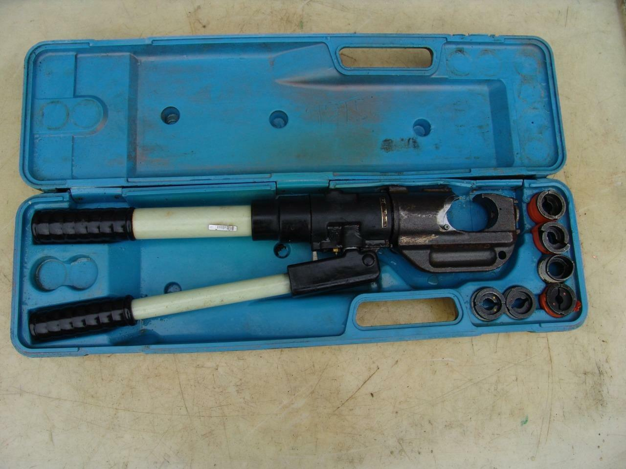 THOMAS & BETTS Tbm14M Hydraulic Crimper 14 Tons With Dies Works ...