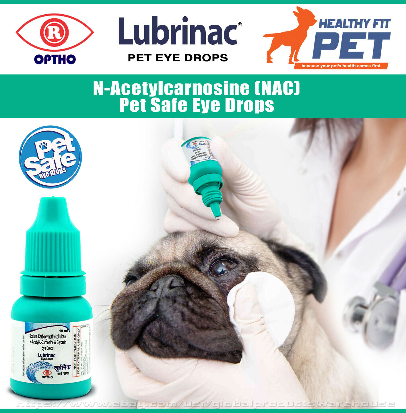 The medicine Tsiprovet - eye drops for cats and dogs
