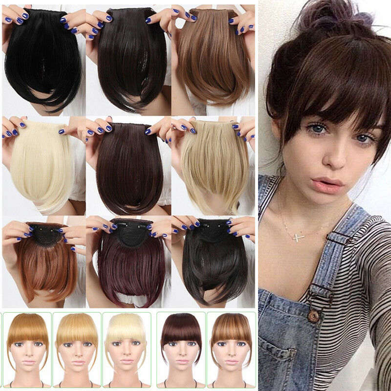 Us Stock Side Bangs Clip On Neat Bang Fringes Clip In Hair
