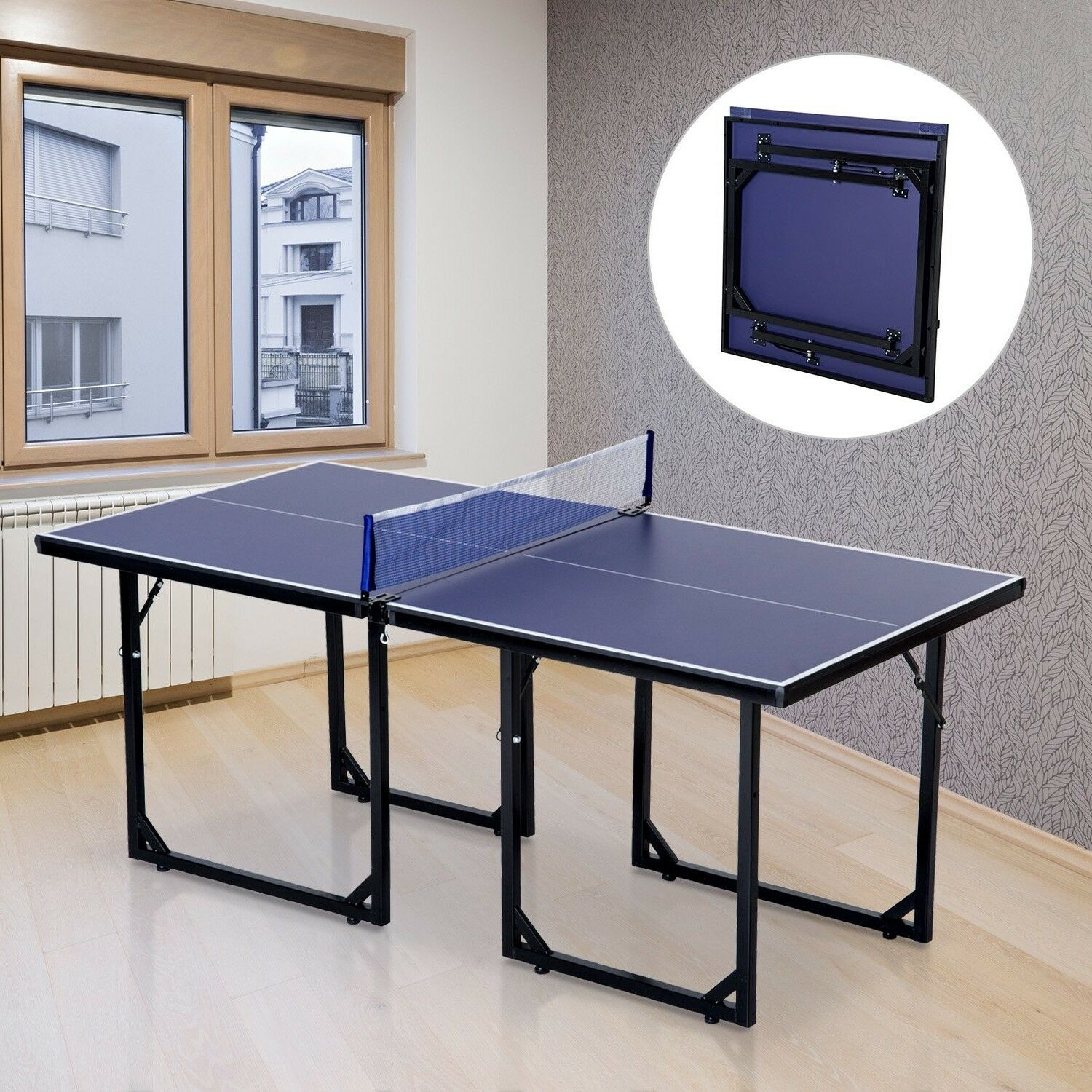 Small Ping Pong Table Folding Portable Tennis Table Outdoor Play Room  Indoor New 1 Of 10FREE Shipping ...