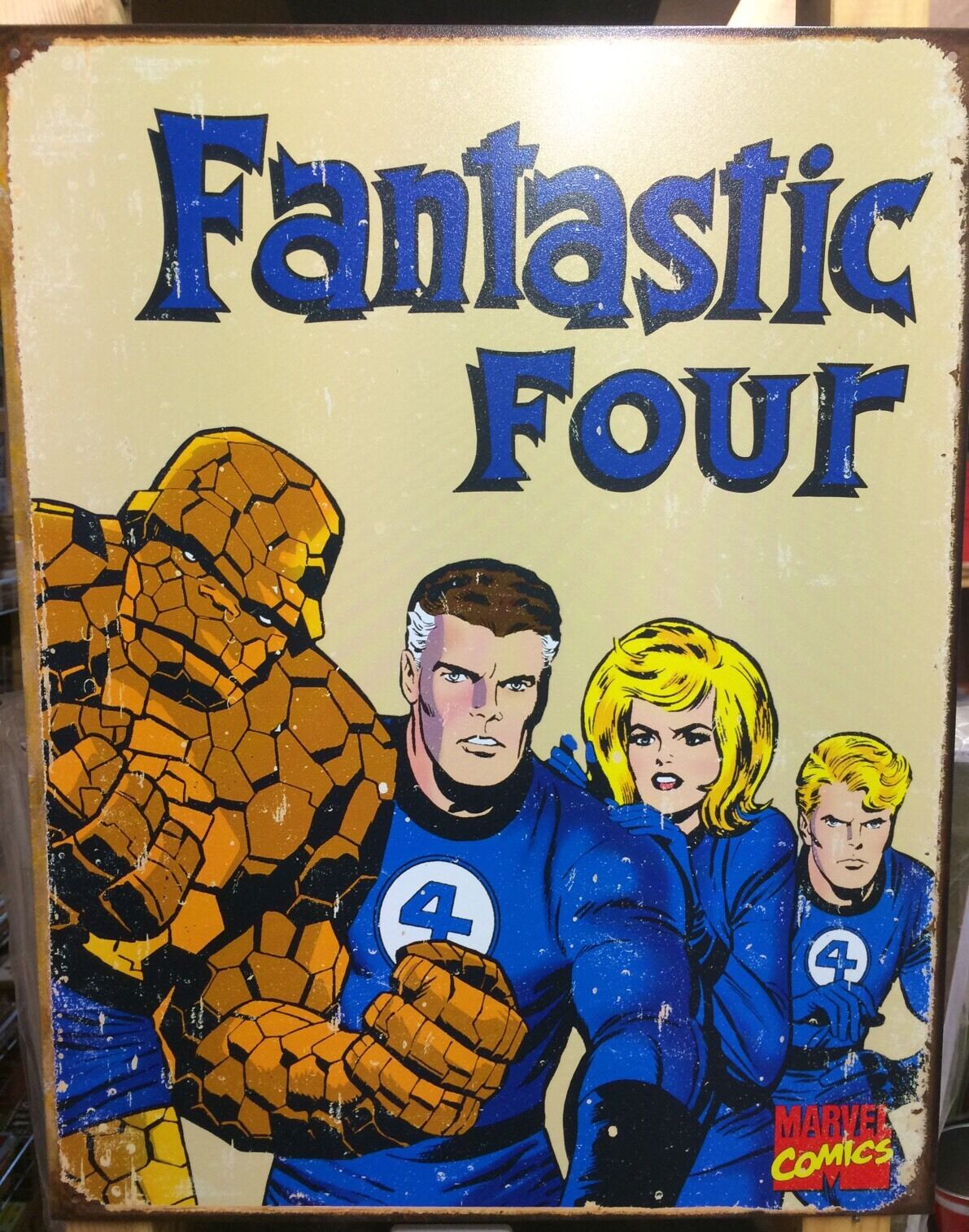 FANTASTIC FOUR RETRO Metal Poster TIN SIGN Marvel Comic Book Wall ...
