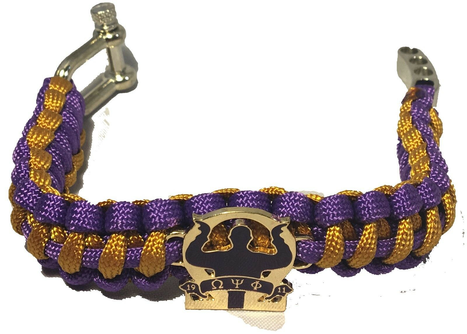 Omega Psi Phi Fraternity Survival Paracord Bracelet With