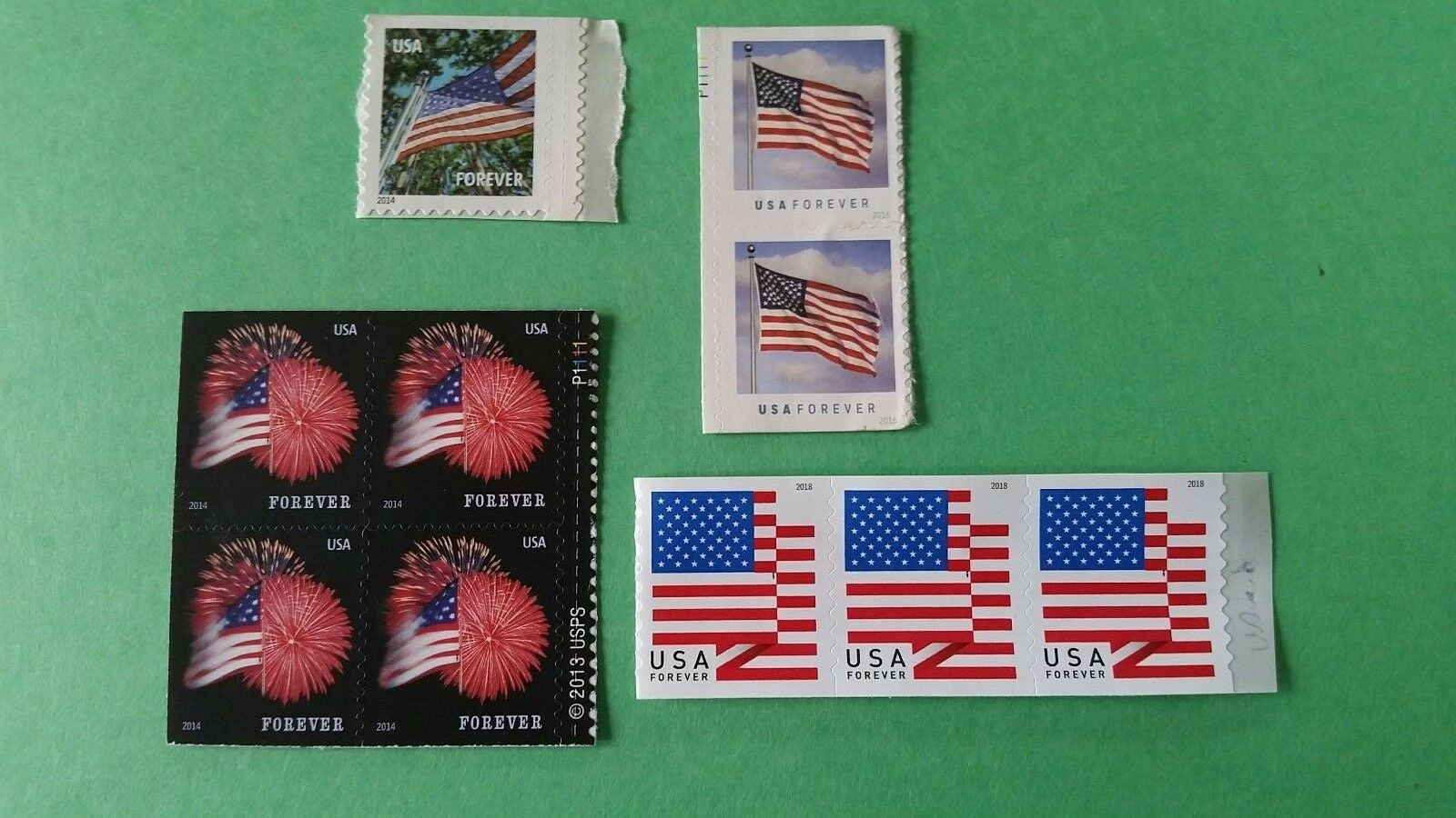 (10) USPS Forever Stamps - Designs vary- Postage For First Class Mail •  $5 01
