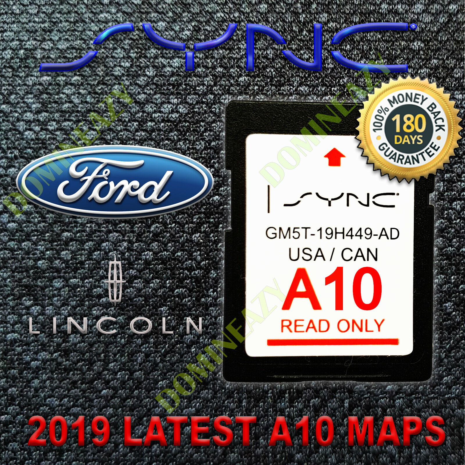 latest ford a9 navigation sd card gps map update sync fits. Black Bedroom Furniture Sets. Home Design Ideas