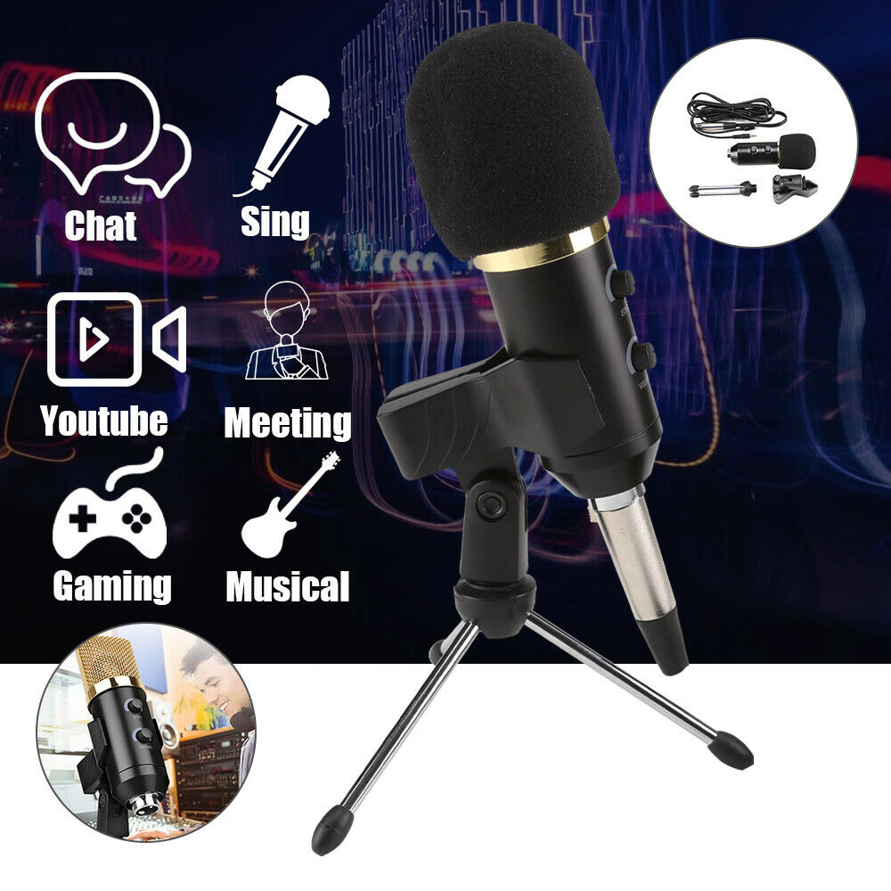 Pc Usb Podcast Studio Condenser Recording Microphone Vocal Singing Gaming Bm700 Mic For Laptop Komputer Stand New 1 Of 10free Shipping