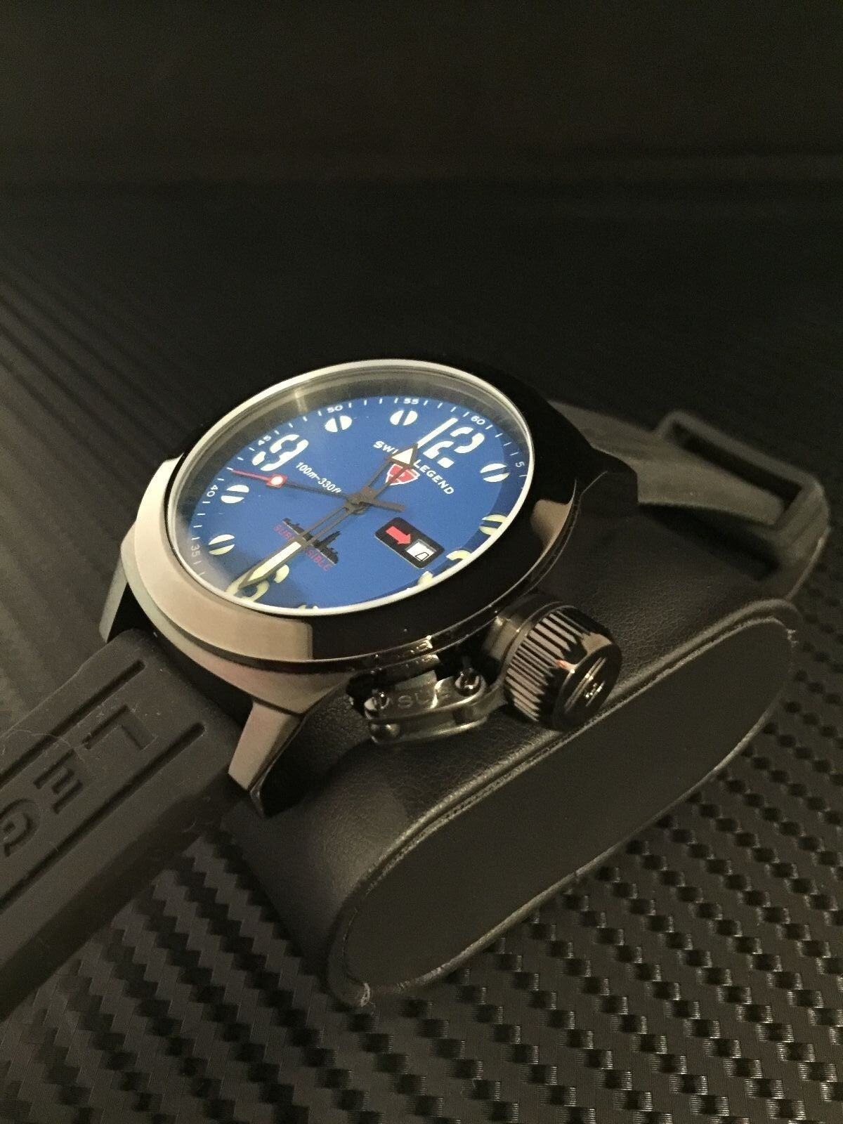 Swiss Legend Mens 10543 Bb 03 Blk Submersible Violet Blue Dial Expedition E6681 Rose Gold Black 1 Of 7only Available
