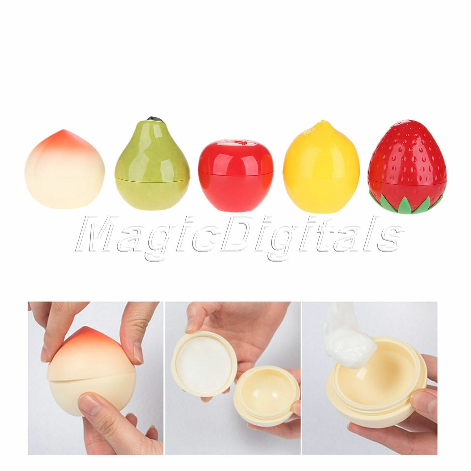 Cute Fruit Shape Cosmetic Cream Lip Balm Box Storage Container Empty Pot Frosted Jar 10gr 30g 1 Of 8free Shipping See More
