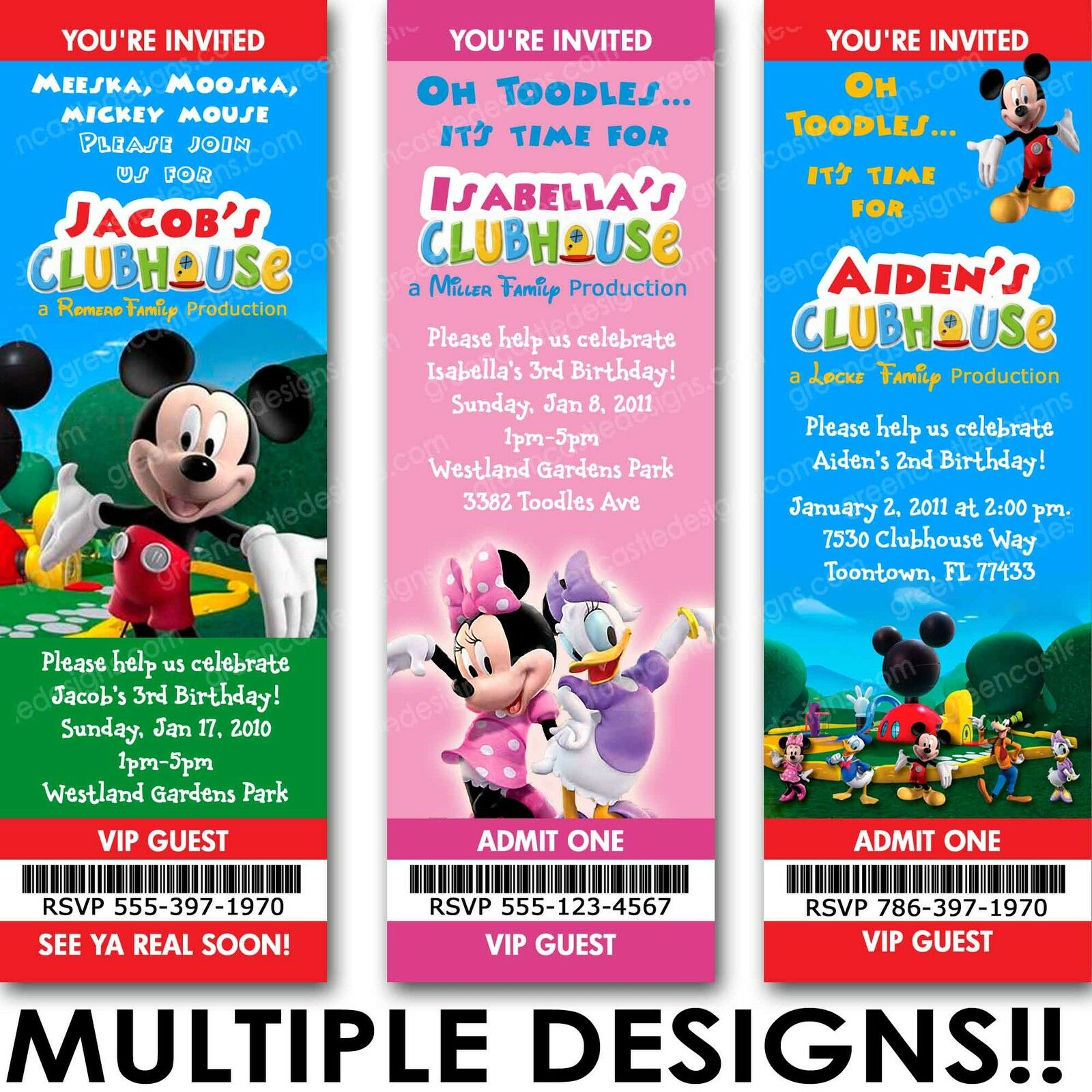 Mickey Mouse Clubhouse Birthday Party Invitations is an amazing ideas you had to choose for invitation design