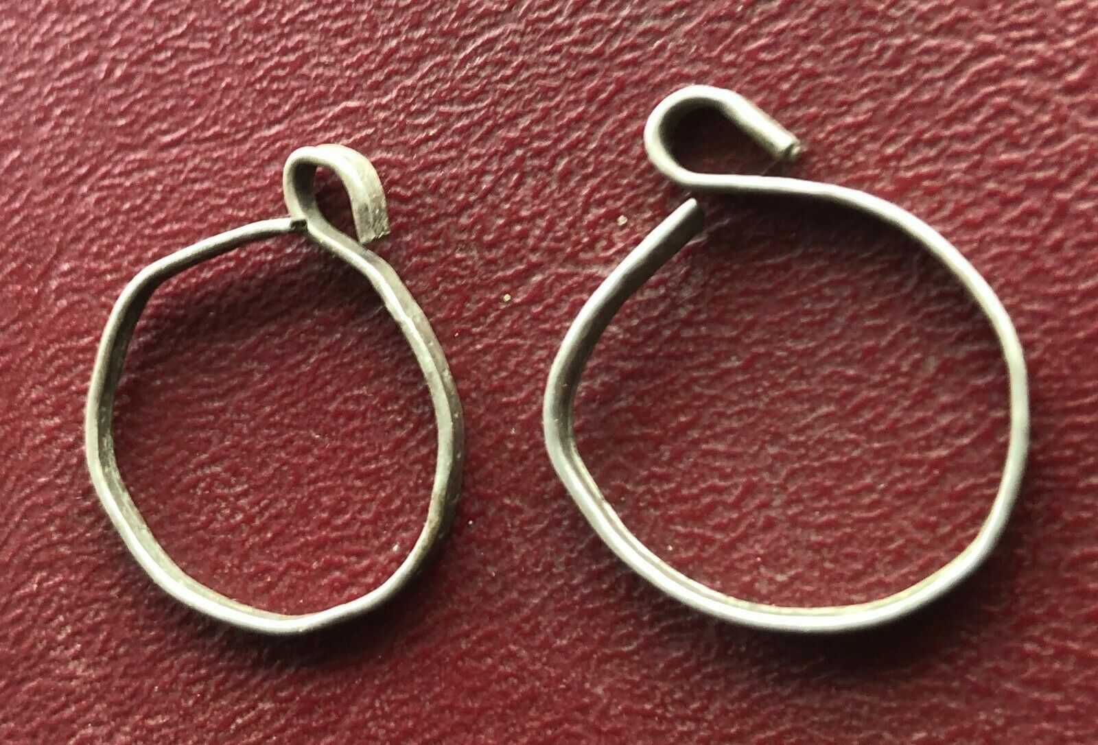 Authentic Ancient SCYTHIAN Artifact - SILVER EARRINGS     A40
