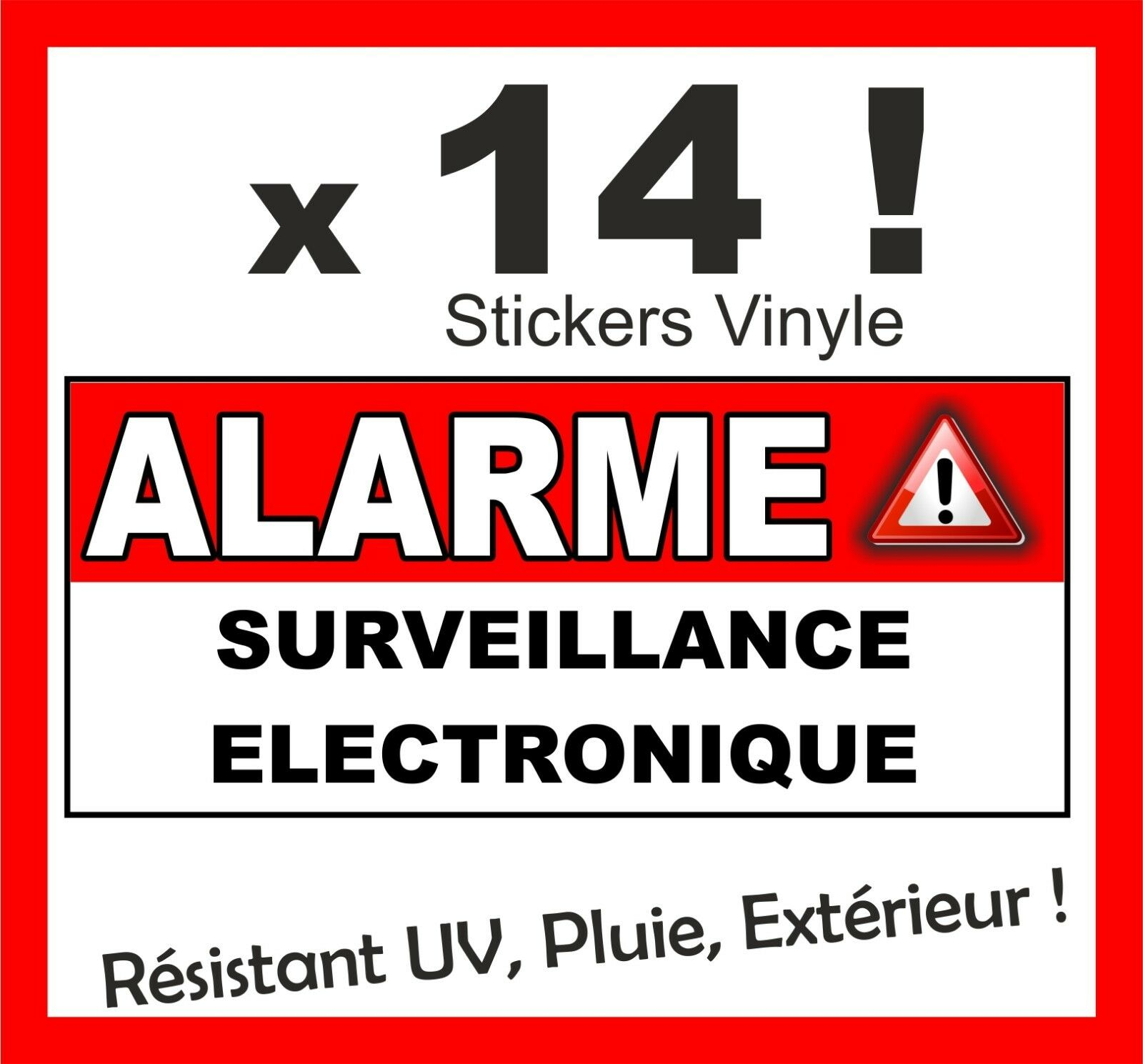Sticker autocollant exterieur int rieur alarme s curit for Alarme maison securite good deal