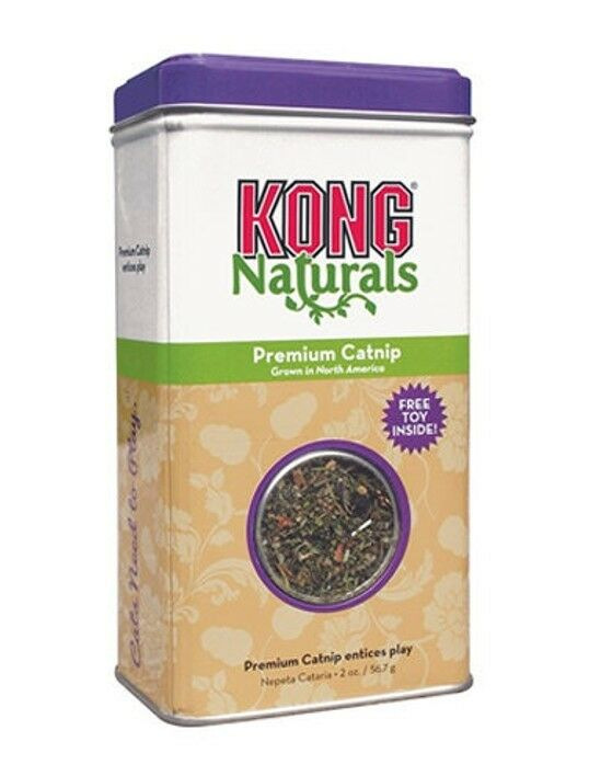 Kong Naturals Premium Catnip Tub 2oz Highest potency Irrisistable to cats kitten