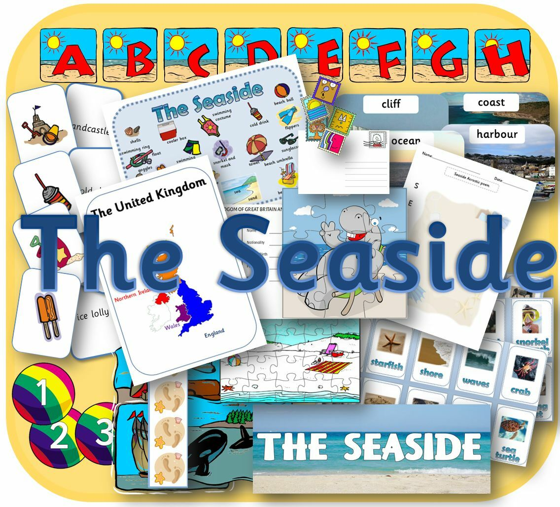 SEASIDE TOPIC KS1 EYFS SUMMER HOLIDAYS display lessons teaching ...