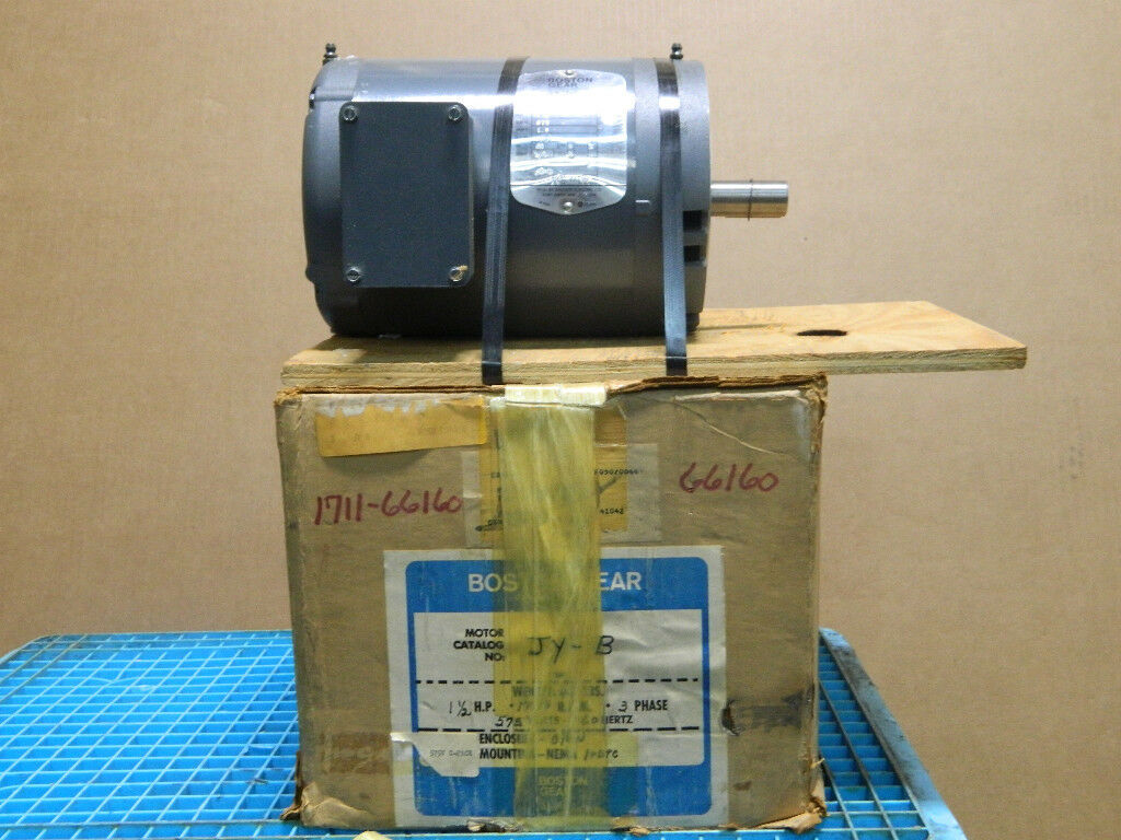 Boston Gear Elect Motor Jy B 35n69 1142 Hp 1 5 575 Volt 1