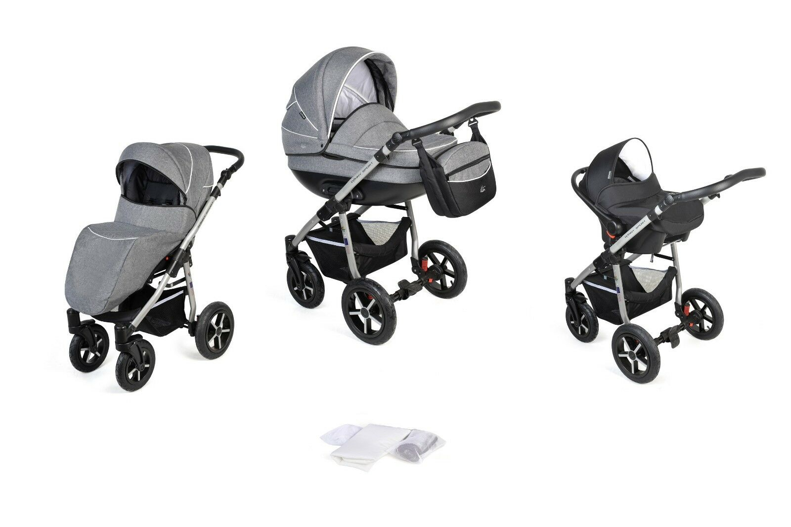 coral kombikinderwagen kinderwagen 3in1 mit babyschale v 0 13 kg luftreifen eur 279 00. Black Bedroom Furniture Sets. Home Design Ideas