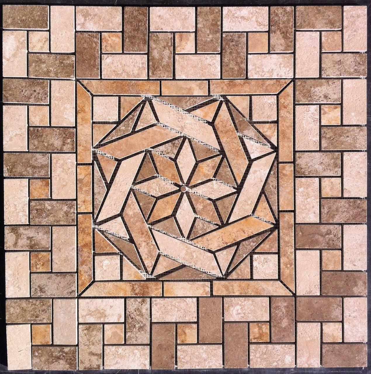 22 14 Ceramic Tile Medallion Daltiles Salerno Tile Floor Or
