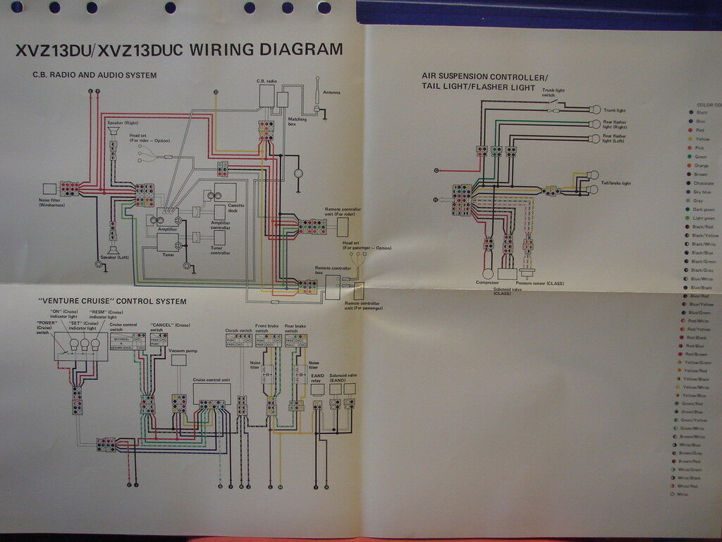 Nos Yamaha Factory Wiring Diagram 1988 Xvz13 Du Duc Audio T500 Motorcycle 1 Of 1only Available