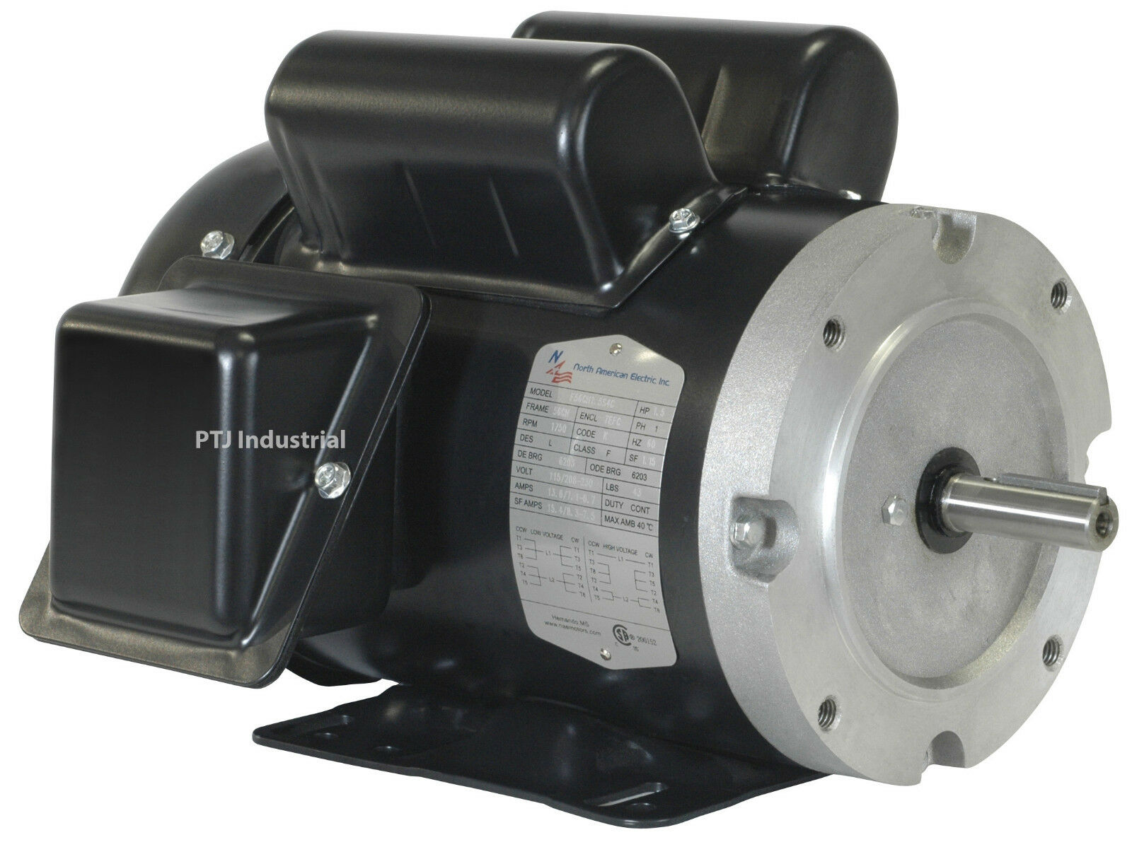 1 3 hp electric motor 1800 56c single phase tefc