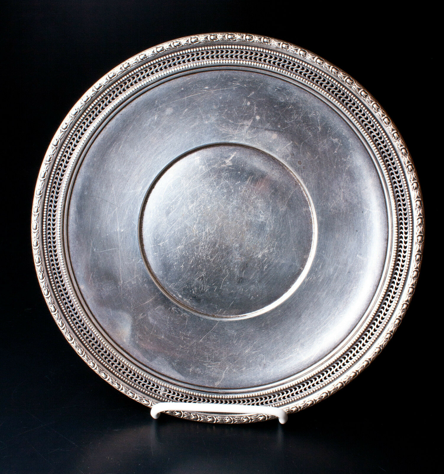 Frank m whiting talisman rose 494 sterling silver plate for Coin and jewelry exchange pleasant hill