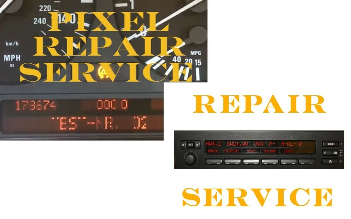 Bmw E39 E38 E53 X5 Cluster And Mid Radio Display Pixel Repair Service  Package
