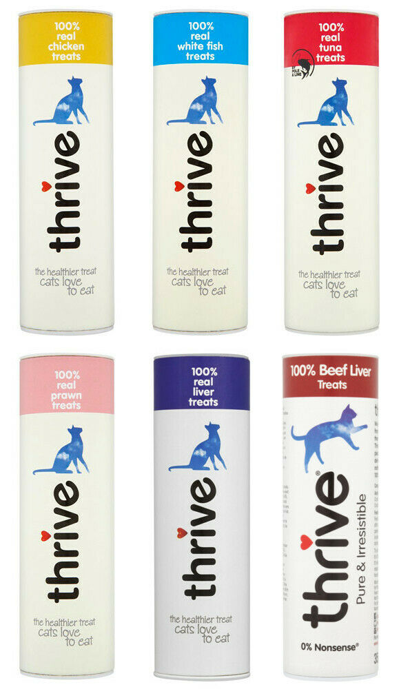 Pet project Thrive Cat Treats 100% Real Meat Freeze Dried Natural Case 12 x Tube