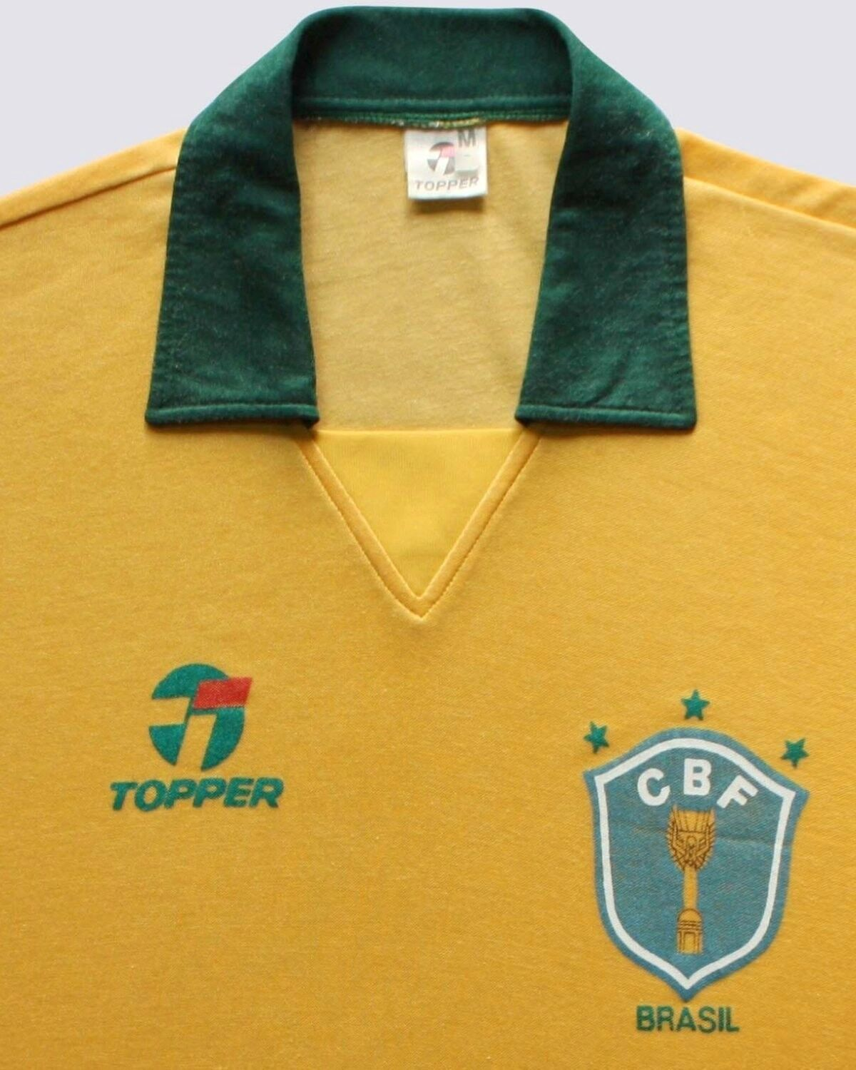 brazil wc 1990 vintage soccer jersey maglia camisa topper rare careca dunga picclick. Black Bedroom Furniture Sets. Home Design Ideas