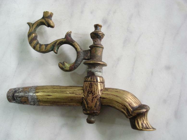 16C. Antique Islamic Water Sink Bronze Fontain Faucet