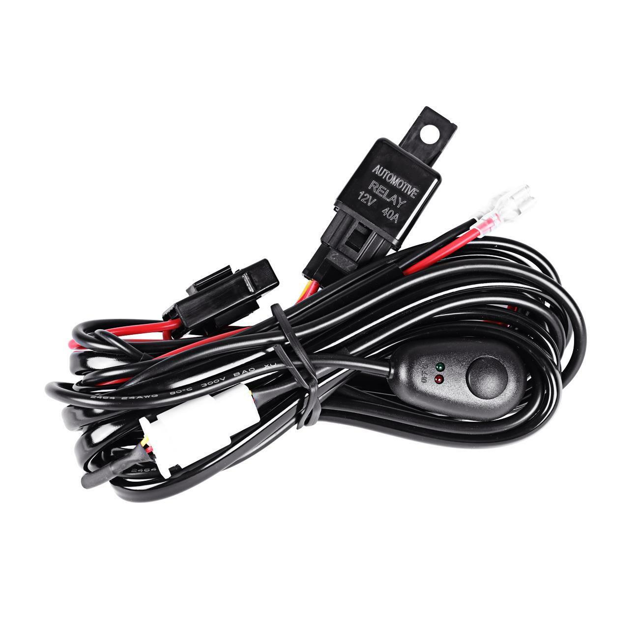 Led Light Bar Wiring Loom Solutions Hid Driving Harness Kit 40a Switch Relay 12v Ebay Offroad Fog Work Fuse