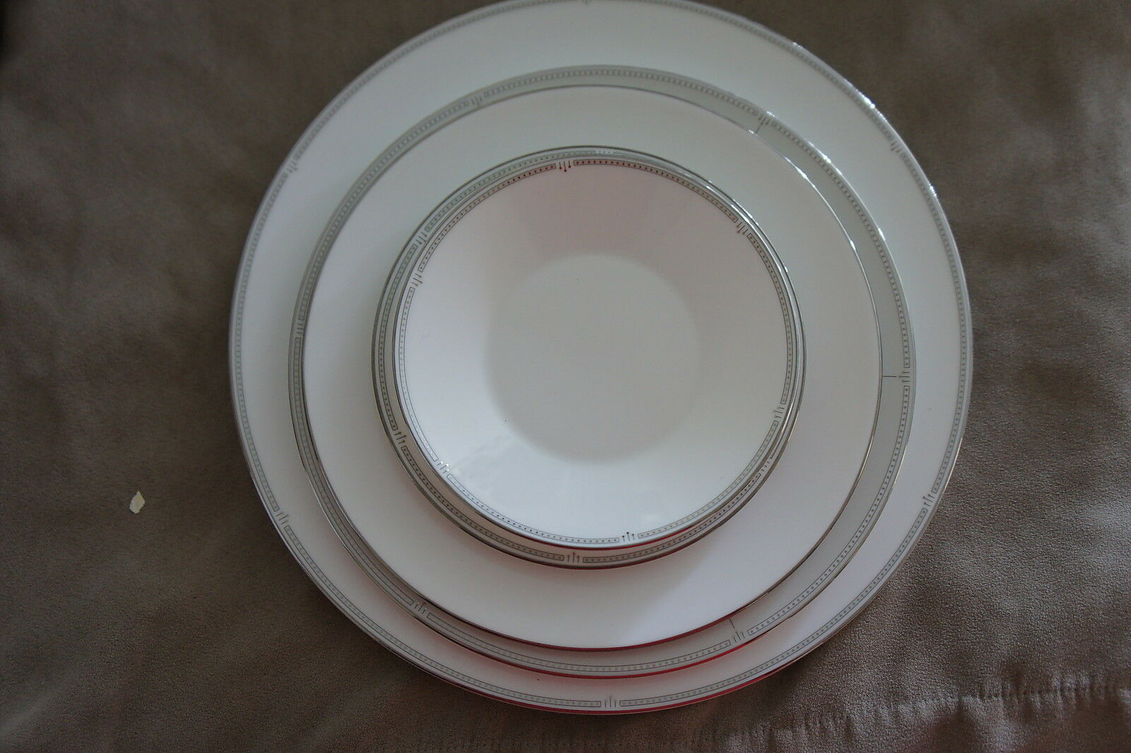 W Wedgwood Solane Square Dinnerware Plate 5 Piece Set