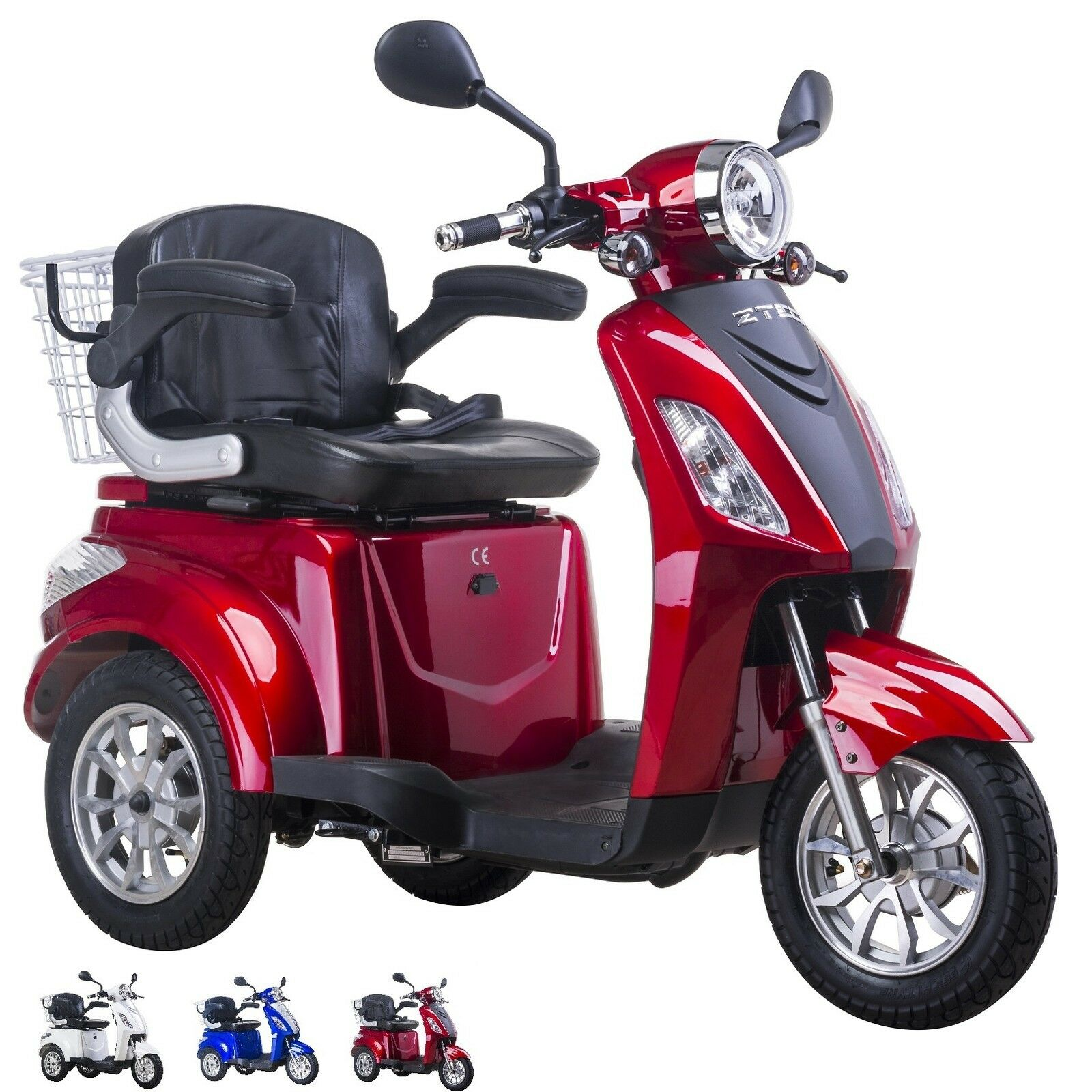 neu 3 fahrbares rot 15 20ah 500w elektrischer scooter elektromobil geschwindigk eur. Black Bedroom Furniture Sets. Home Design Ideas