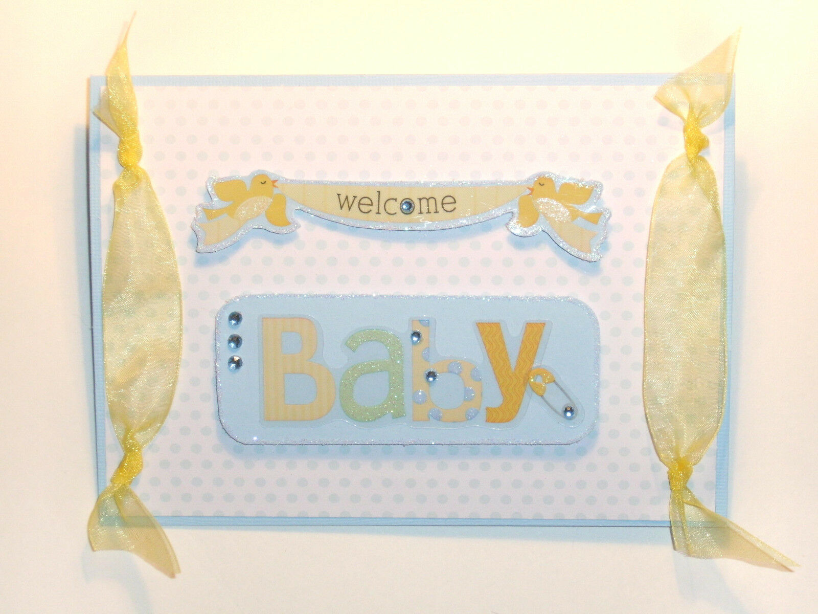 Handmade Greeting Card For Baby Boy Welcome 300 Picclick