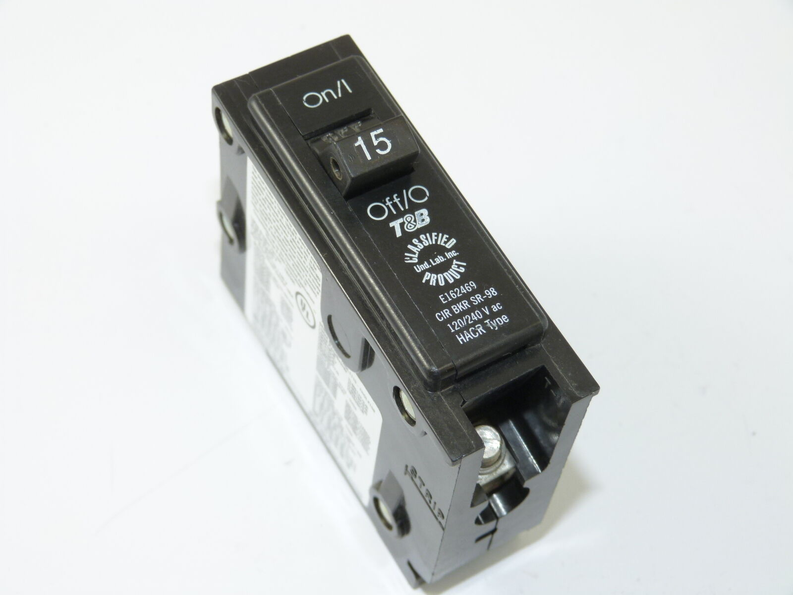 New Thomas Betts Tb115c 1p 15a 120 240v Circuit Breaker 1 Yr Home Residential Zinsco Type R38 Of 1only Available