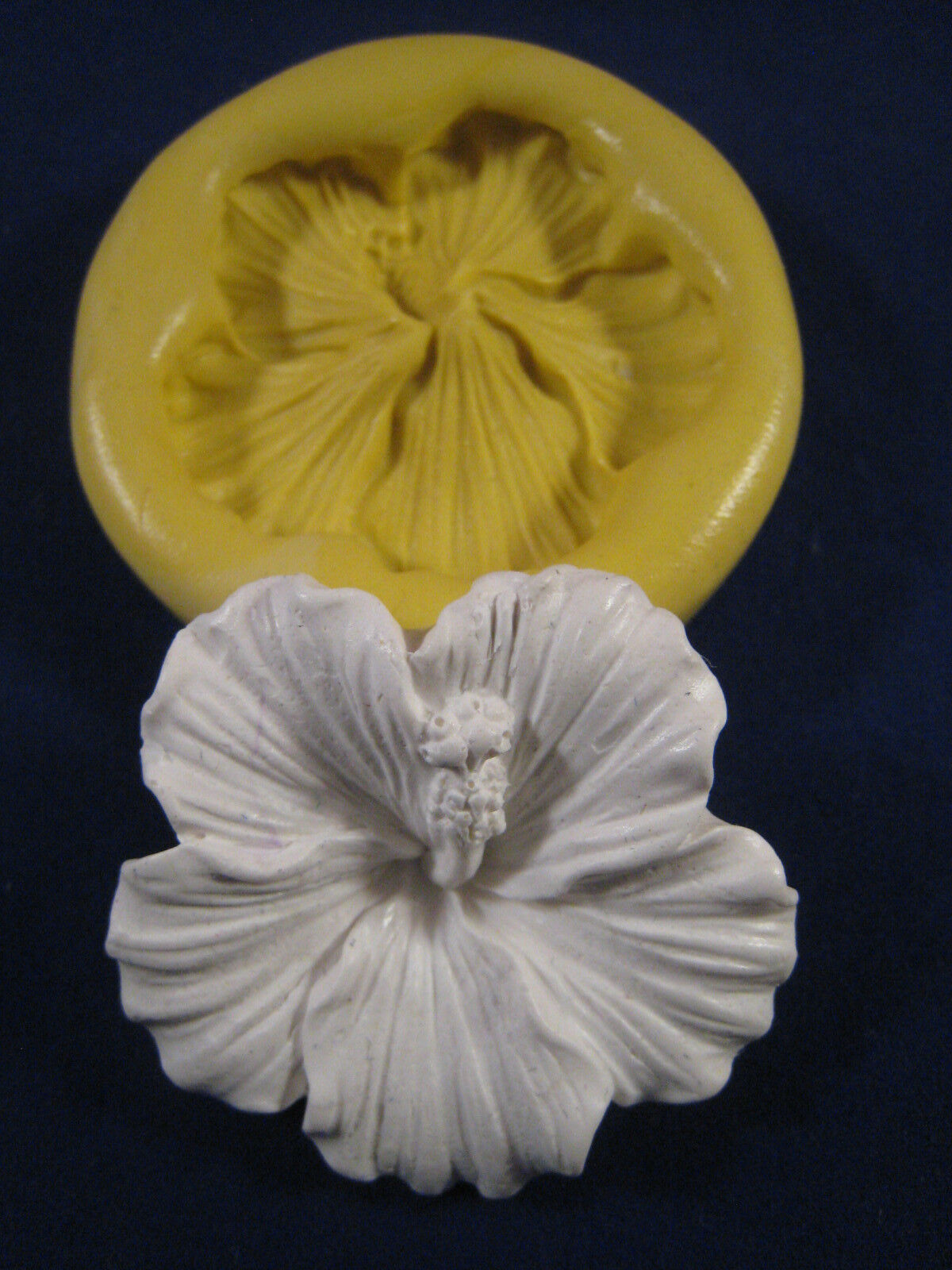 Hibiscus Flower Silicone Molds Gumpaste Fondant Chocolate Polymer