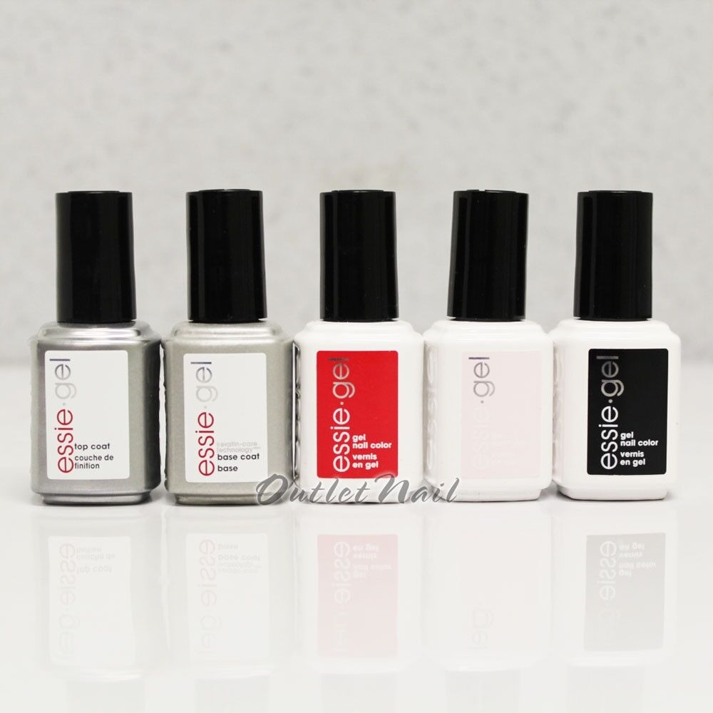 ESSIE GEL UV LED Nail Kit - Pick 3 Color + Base + Top Coat 0.42 oz Set -SHIP 24H • $54.50